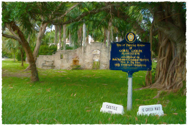 historic site of Packing House of Coral Gables Plantation