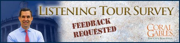 Coral Gables Listening Tour Survey