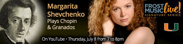 Margarita Shevchenko Plays Chopin & Granados